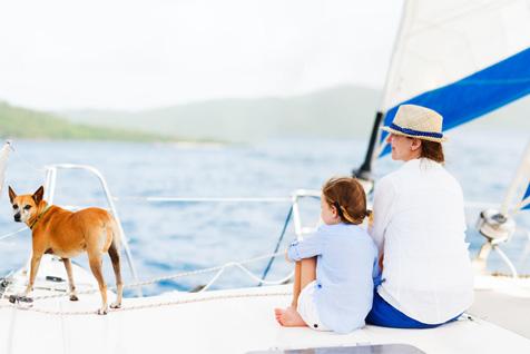 Семейный день на яхте на Нарочи